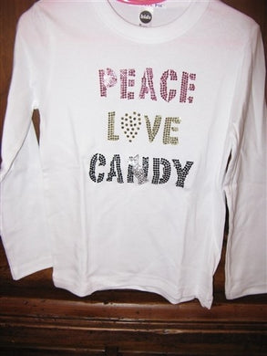 Attitude Pie Peace Love Candy Shirt