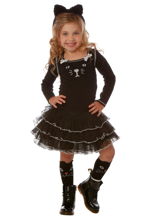 Honeypiekids | Ooh La La Couture Black Kitty Tutu Dress