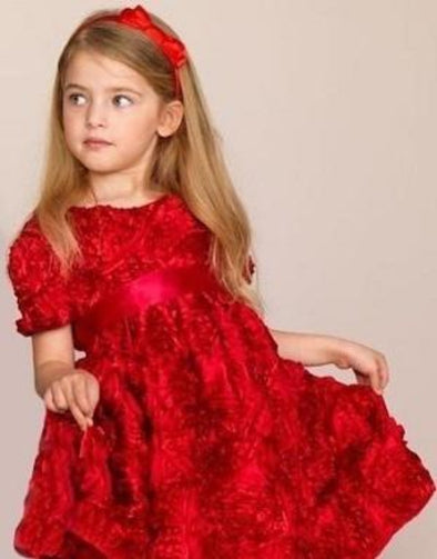 Honeypiekids | Halabaloo Bouquet Dress (red)