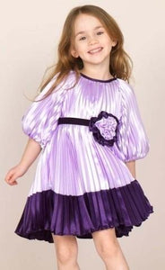 honeypiekids | Halabaloo Lavender & Purple Pleated Dress