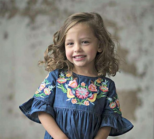 Honeypiekids | BLU & BLUE GIOVANNA DRESS