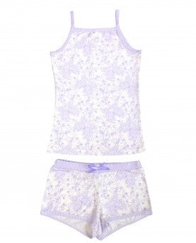 BlueBelle 2 Piece Purple Butterfly Boxer & Cami Set - Honeypiekids