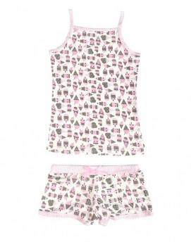 BlueBelle 2 Piece Ice-cream  Boxer & Cami Set - Honeypiekids