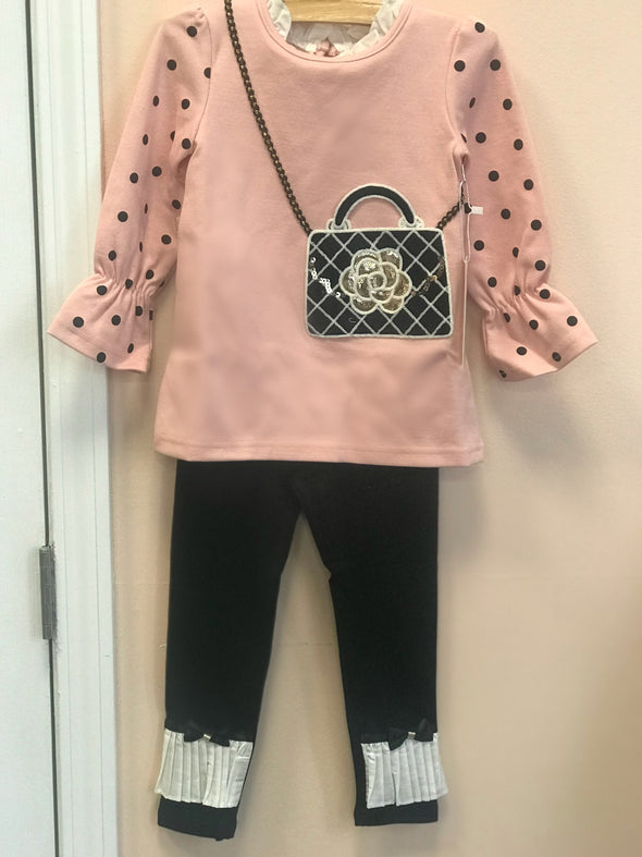 Honeypiekids | Maeli Rose BLUSH Purse Pack Long Sleeve Tunic