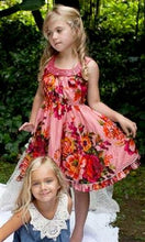 Load image into Gallery viewer, Honeypiekids | Cupcakes and Pastries Floral Print dress with beaded neckline