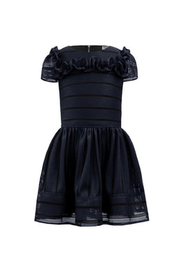 Honeypiekids | David Charles Navy Tone Striped Dress