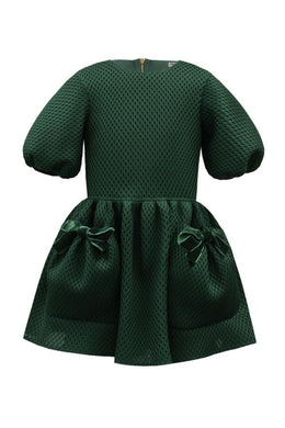 David Charles Green Pocket Dress - Honeypiekids.com