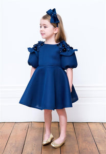 Honeypiekids | David Charles Navy Flower Dress