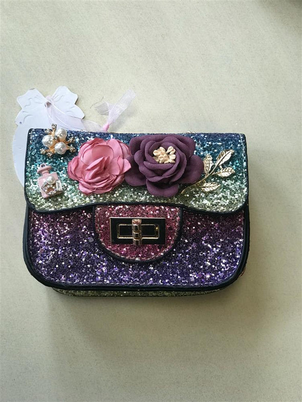 Honeypiekids | Doe a Dear Purple Ombre Sequin Purse