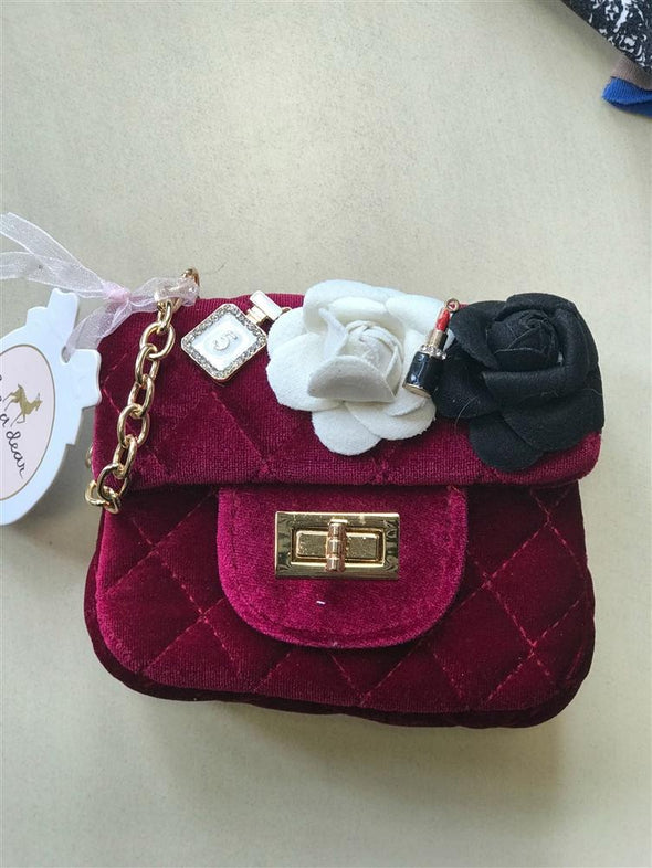 Honeypiekids | Doe a Dear Red Velvet Purse
