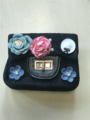 Doe a Dear Black Lace and Flower Purse | Honeypiekids