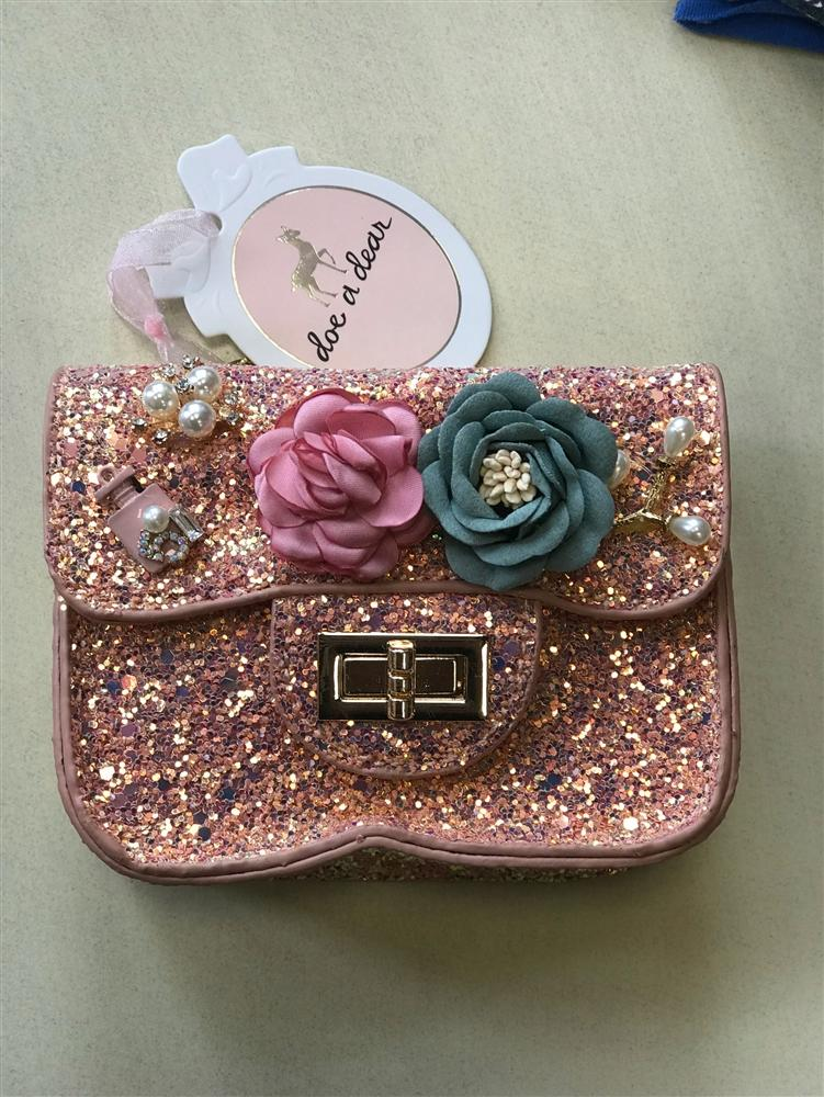 Doe a Dear Pink Sequin Purse - Honeypiekids.com