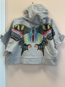 Honeypiekids | Paper Wings Oversized Frilled Butterfly Poncho