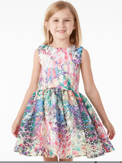 Honeypiekids | Halabaloo Tie Dye Eyelet Dress