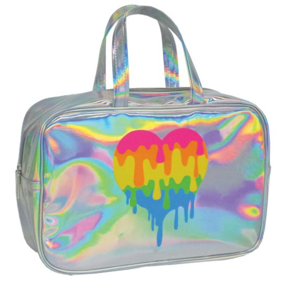 Honeypiekids | I-Scream Dripping Heart Holographic Large Cosmetic Bag