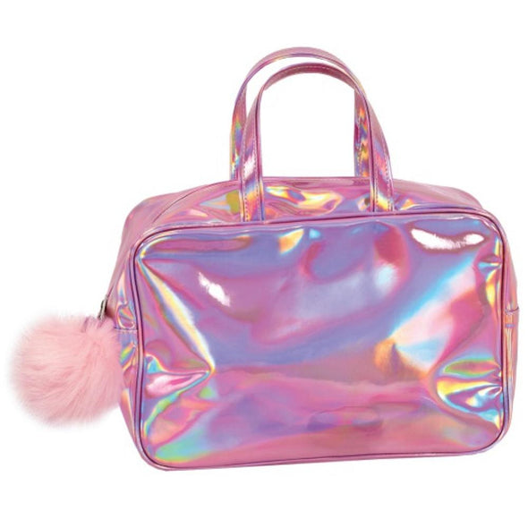 Honeypiekids | I-Scream Pink Holographic Large Cosmetic Bag