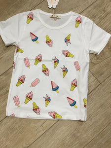 Honeypiekids | Doe a Dear Ice cream and Popsicle Graphic Tee