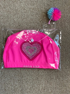 Bling 2o Pink Heart Swim Cap - Honeypiekids.com