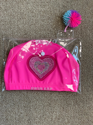 Honeypiekids | Bling 2o Pink Heart Swim Cap