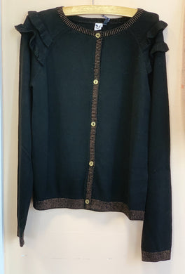 3Pommes Black and Gold Cardigan