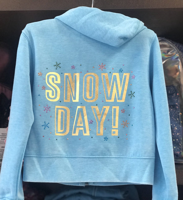 Honeypiekids | Crystal Snow Day Zip Up Hoodie Jacket by Sparkle By Stoopher