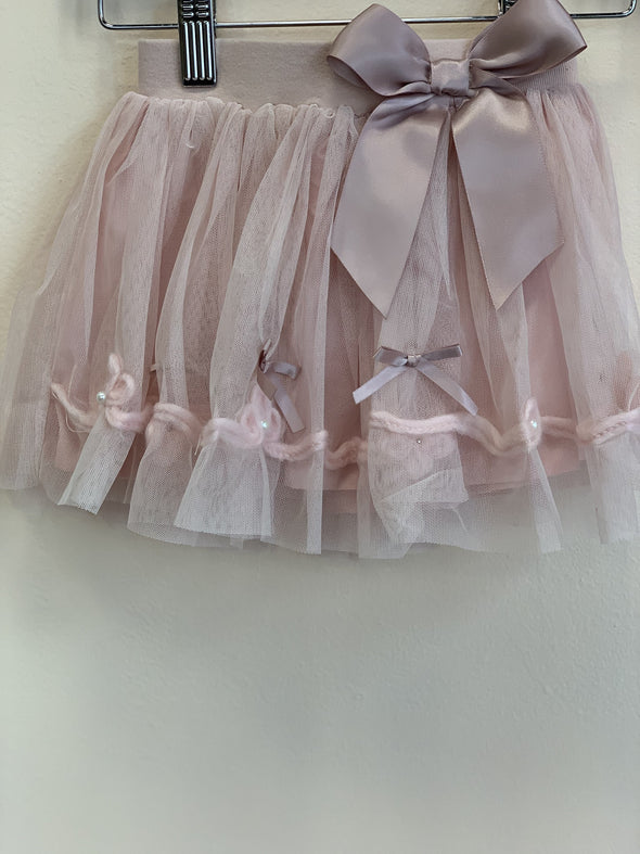Honeypiekids | MaeLi Rose Blush Layered Tulle Skirt