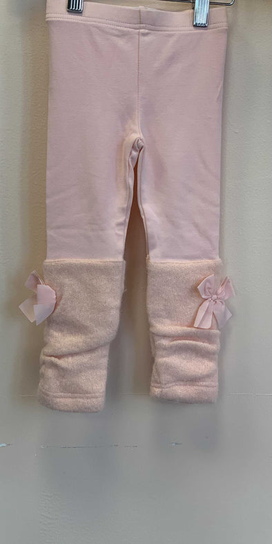 Honeypiekids | MaeLi Rose Leg Warmer Leggings in Peach