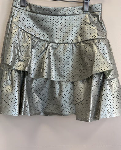 Honeypiekids | Lili Gaufrette Gold Laser Cut Skirt