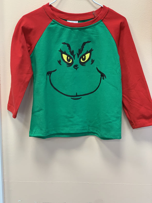 Honeypiekids | The Grinch Long Sleeve Shirt