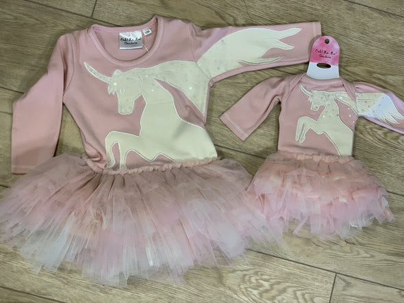 Honeypiekids | Ooh La La Couture Pink Unicorn Dress for DOLLS