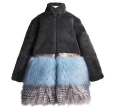 Load image into Gallery viewer, Imoga Freya Long Faux Fur Coat in Ash | Honeypiekids