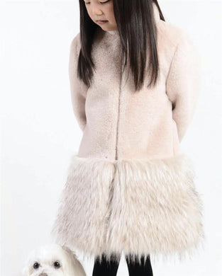 IMOGA POWDER LONG FAUX FUR JACKET | Honeypiekids