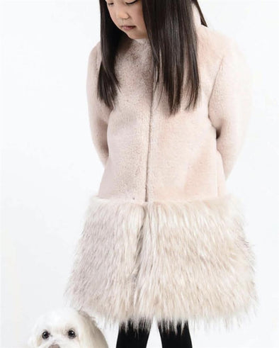 Honeypiekids | Imoga Collection Blush Faux Fur Long Coat