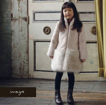 Load image into Gallery viewer, honeypiekids | IMOGA POWDER LONG FAUX FUR JACKET