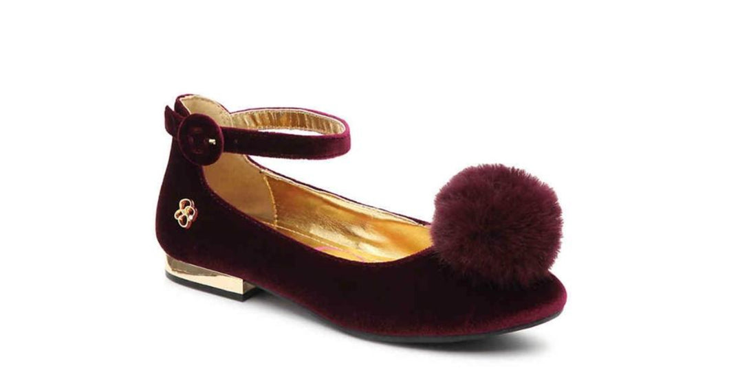 Jessica Simpson Girls Suki Shoes in Bordeaux - Honeypiekids.com