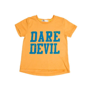 Joah Love Dare Devil Tee in Marigold | Honeypiekids