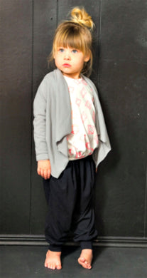Joah Love Black Pleated Drop Crotch Pants (unisex) - Honeypiekids.com