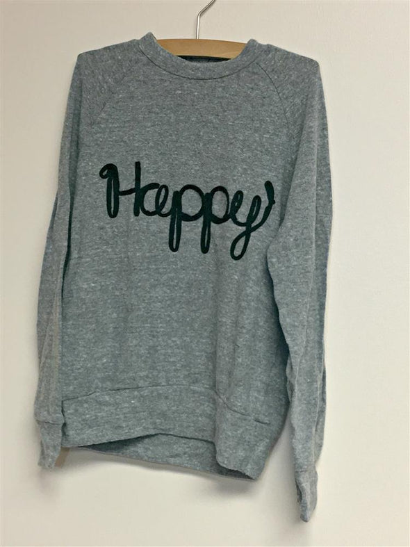 "Honeypiekids | Joah Love ""Happy"" Faux Cashmere Sweater"