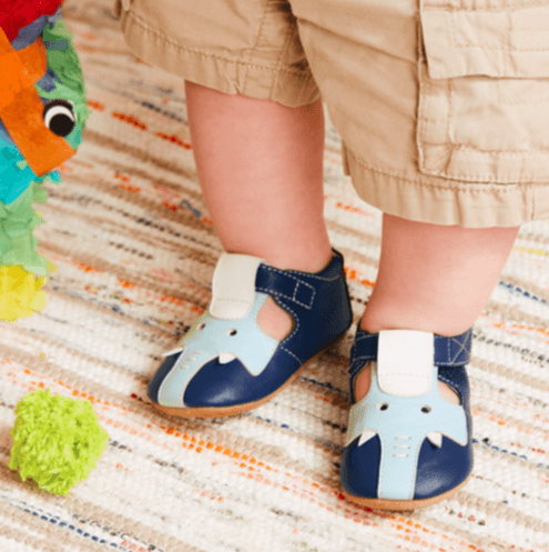 Honeypiekids | Livie & Luca Blue Elephant Boys Shoes