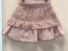 Load image into Gallery viewer, MaeLi Rose Blush Eyelet Lace Skirt | Honeypiekids