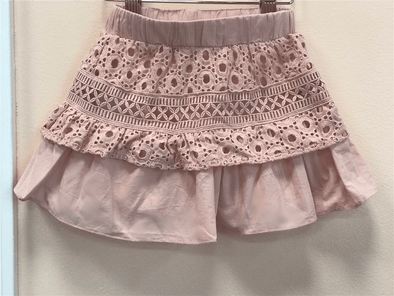 Honeypiekids | MaeLi Rose Blush Eyelet Lace Skirt
