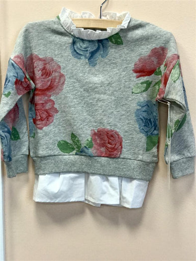 Honeypiekids | MaeLi Rose Grey Floral Sweatshirt