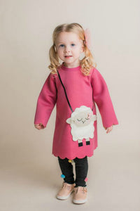 honeypiekids | Maeli Rose Sheep Purse Scuba Dress