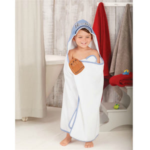 Mudpie Baseball Hooded Towel | Honeypiekids