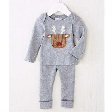 Mudpie Infant Boys Reindeer 2 Piece set | Honeypiekids