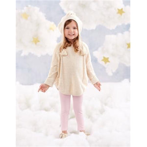 MUDPIE LUREX KNIT PONCHO HOODED SWEATER | Honeypiekids