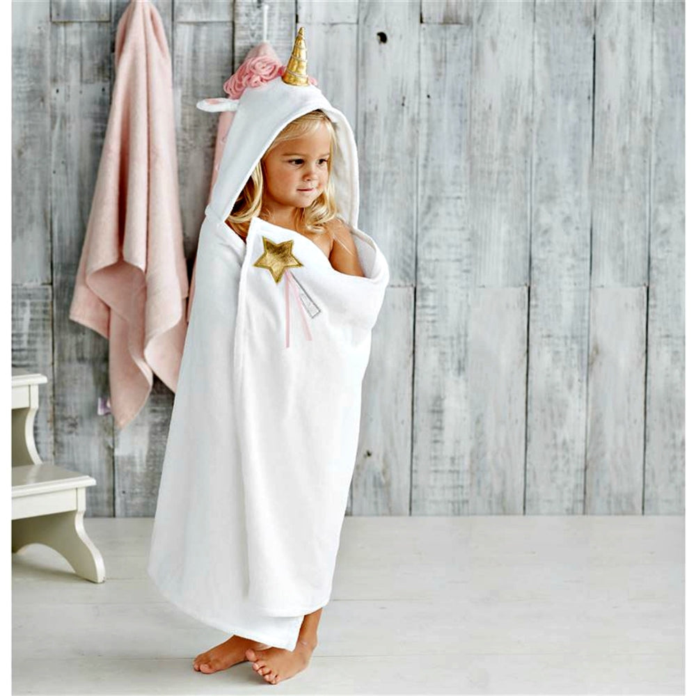 Mudpie White Unicorn Hooded Towel | Honeypiekids