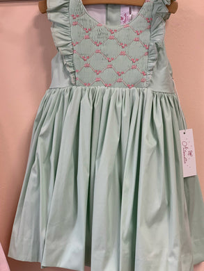 Antoinette Paris Netti Aqua Hand Smocked Dress