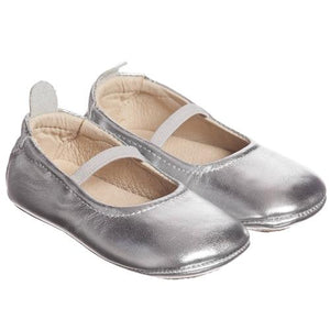 honeypiekids | Old Soles Australia Luxury Baby Ballet Flats in Silver