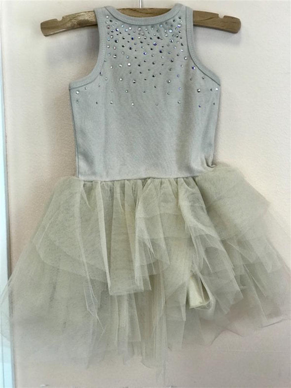 Honeypiekids | Ooh La La Couture Carrie Crystal Dress in Eggshell